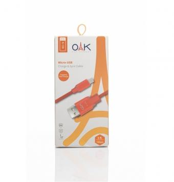 کابل تبدیل USB به micro-USB برند OAK مدل K-139 طول 1 متر.