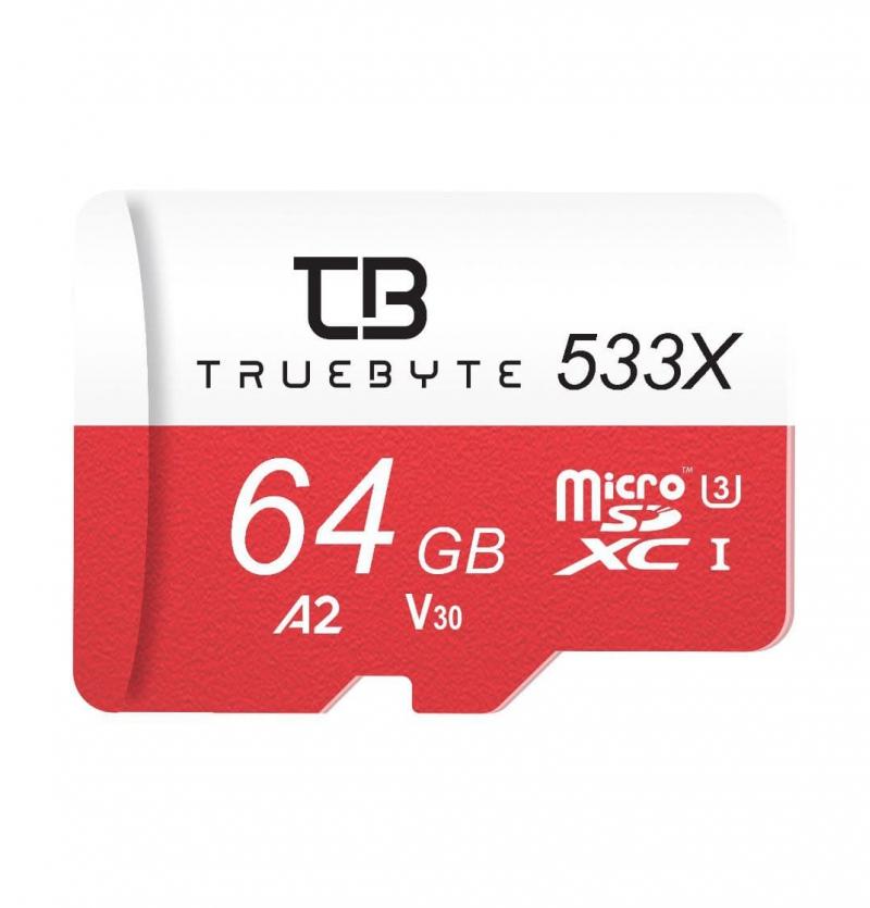 کارت حافظه microSD XC تروبایت مدل 533X-A2- V30 کلاس 10 استاندارد UHS-I U3 ظرفیت 64 گیگابایت