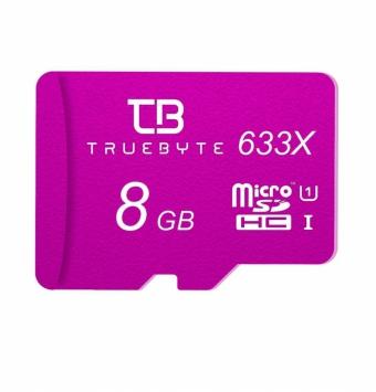 کارت حافظه microSD HC تروبایت مدل 633X کلاس 10 استاندارد UHS-I U1 ظرفیت 8 گیگابایت همراه با کارت خوان