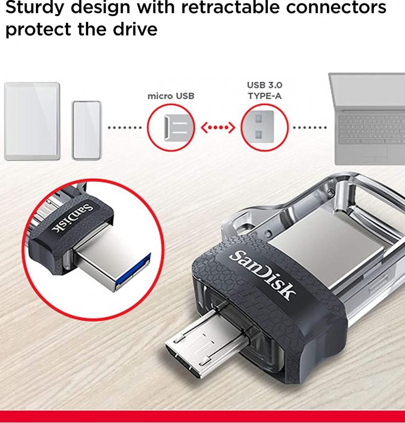 فلش مموری سن دیسک 32 گیگ ultra dual drive