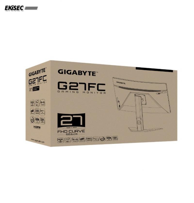 مانیتور 27 اینچ خمیده گیمینگ گیگابایت مدل G27FC