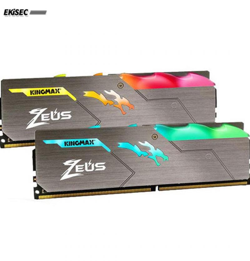 رم دسکتاپ DDR4 تک کاناله 3200 مگاهرتز CL17 کینگ مکس مدل Zeus Dragon ظرفیت 8 گیگابایت